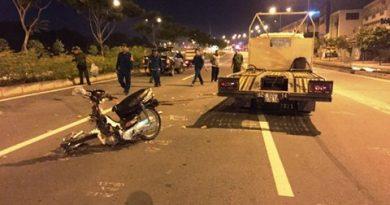 Hiện trường vụ tai nạn xảy ra
