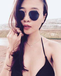 Thu Trang có khuôn mặt khá quyến rũ và nữ tính