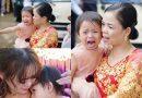Em gái òa khóc nức nở, không muốn rời xa trong ngày chị gái lên xe hoa về nhà chồng