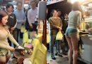 Đài Loan: Mỹ nữ bán thịt lợn mặc đồ gợi cảm gây náo loạn cả góc chợ