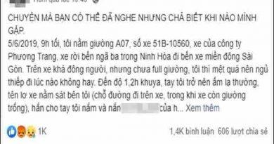 Nữ sinh tố bị phụ xe Phương Trang sàm sỡ nhiều lần