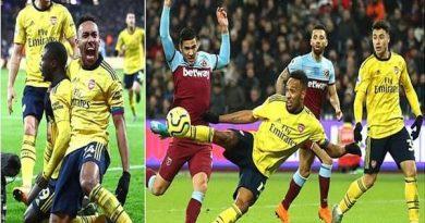 Arsenal thắng ngược ở trận derby thành London