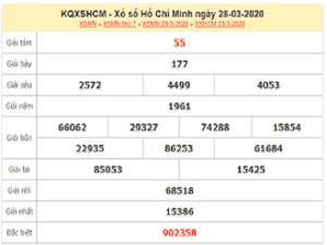 Soi cầu KQXS Hồ Chí Minh thứ 2 ngày 30/03/2020