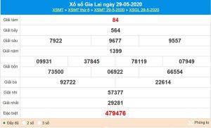 Thống kê XSGL 5/6/2020 chốt KQXS Gia Lai thứ 6