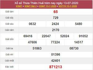 Soi cầu XSTTH 20/7/2020 - KQXS Thừa Thiên Huế thứ 2