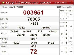 Thống kê KQXSDT- xổ số đồng tháp thứ 2 ngày 31/08 chi tiết