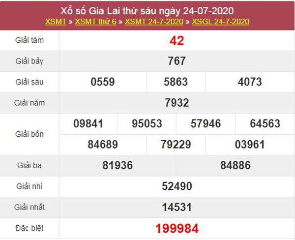 Soi cầu XSGL 31/7/2020 chốt lô số đẹp Gia Lai thứ 6