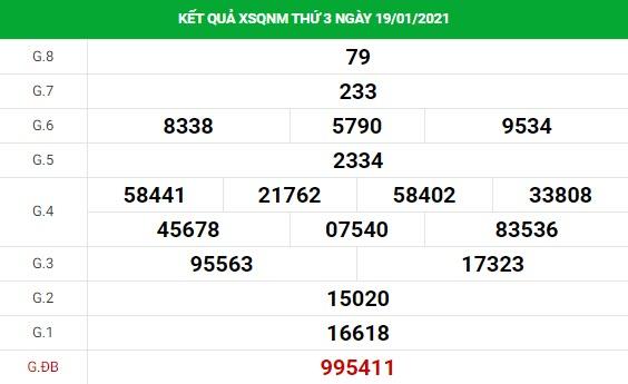Soi cầu dự đoán XS Quảng Nam Vip ngày 26/01/2021