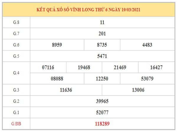Nhận định KQXSVL ngày 26/3/2021 dựa trên kết quả kì trước