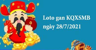 Loto gan KQXSMB ngày 28/7/2021 hôm nay