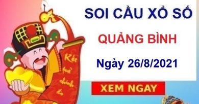 Soi cầu XSQB ngày 26/8/2021