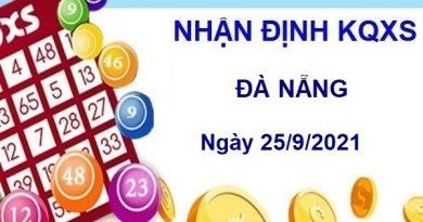 Nhận định KQXSDNG ngày 25/9/2021 chốt số Đà Nẵng