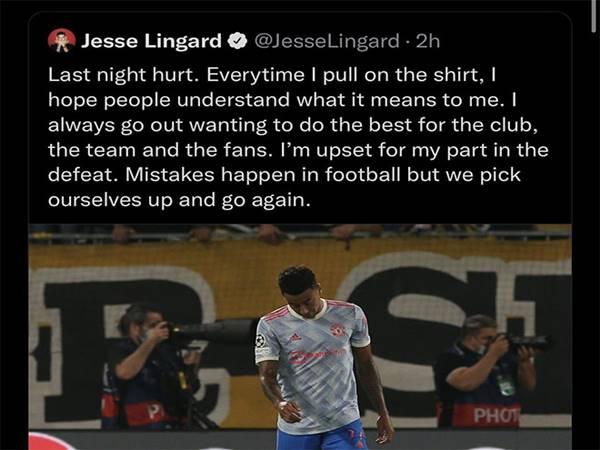 Tin bóng đá MU 16/9: Lingard viết tâm thư trên Twitter